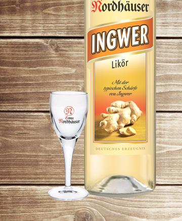 Ingwerlikör & Likör-Gläser Geschenkset