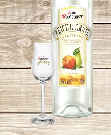 Apfel-Birne & Glas Geschenkset
