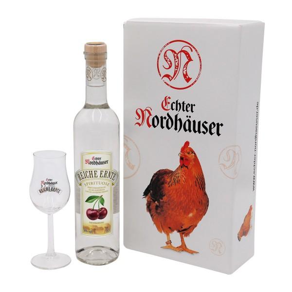Sauerkirsche & Glas Geschenkset